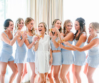 Blue bridesmaid outfits