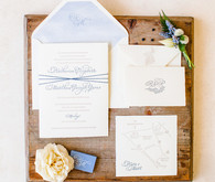 modern beachy wedding invitations