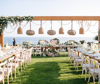 Modern beachy reception at the Montage Laguna Beach