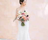 Blush bridal portraits