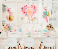 Pastel and gold Valentine's Day party
