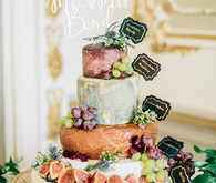 stacked cheese wedding cake