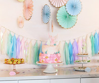 Pastel mermaid party at Festoon LA