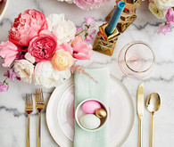 and elegant place setting for spring and easter