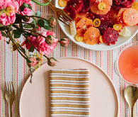 citrus inspired spring brunch place setting