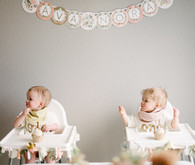 How to host and plan a sweet thoughtful pastel birthday party at home for twins