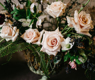 Moody winter Degas-inspired wedding design