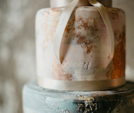 Artful wedding cake detail