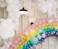 Rainbow balloon installation