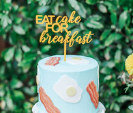 bacon and eggs themed cake