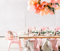 Girly pink birthday party brunch