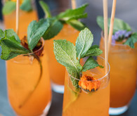 Garden wedding cocktail