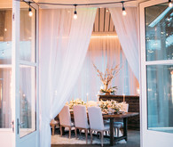 Glam wedding tablescape
