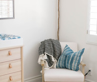 Mudcloth inspired boy's nursery