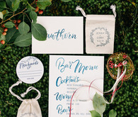 Folksy backyard brunch wedding invites