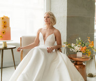 Modern wedding gown