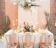 Blush and copper tabelscape