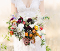 rustic natural strawflower wedding bridal bouquet