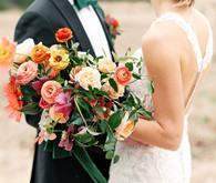 Jewel tone wedding bouquet at the Prospect House
