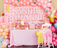 Pink and yellow Museum of Ice Cream themed first birthday party
