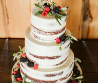 Semi naked layer cake with berries