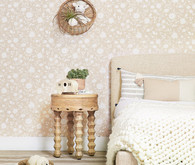 Blush floral wallpaper from Rylee + Cru