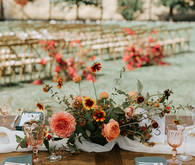 A rustic barn wedding at Red Barn Ranch inspired by berries and summer flowers
