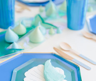 Shark themed metallic boy's birthday party