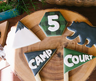 Camp-themed sugar cookies