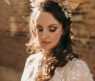 Unique bridal headpiece