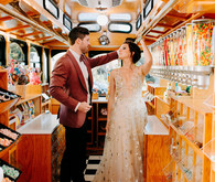 Trolly Car wedding portraits