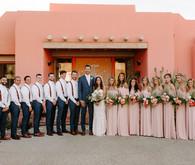 Luxe pink Palm Springs wedding at The Pond Estate