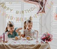 Girls birthday party decor