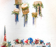 Red, white, and blue 4th of July party ideas with a boho, floral twist