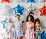 Red, white, and blue kids 4th of July party