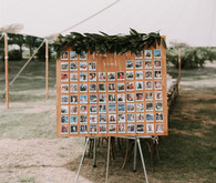Seating chart polaroids