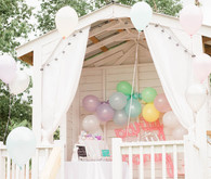 Playhouse birthday decor