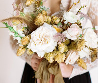 Dried flower bridal bouquet