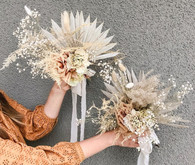 Dried flower bridesmaid bouquet