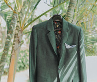 Tropical groom's suit