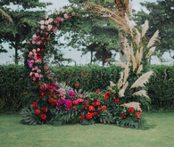 Tropical ceremony hoop