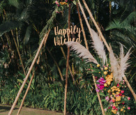 Boho tipi for wedding