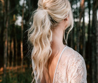 Bridal pony tail