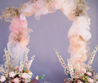 Tulle ceremony arch