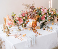 Fall floral tablescape