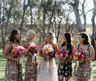 Printed bridesmaid dresses
