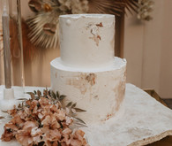Earth tone wedding cake