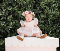 1st birthday floral crown