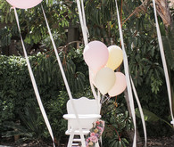 High chair party decor