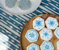 Blue sugar cookies for Mamma Mia party